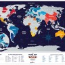 Скретч карта мира Travel Map Holiday World ENG 80*60 см