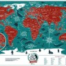 Скретч карта мира Travel Map Marine World ENG 60*40 см
