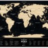Скретч карта мира Travel Map Black World ENG 80*60 см