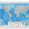 Скретч карта мира 3-в-1 Discovery Map World Silver