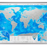 Скретч карта мира 3-в-1 Discovery Map World Silver ENG 88*62 см